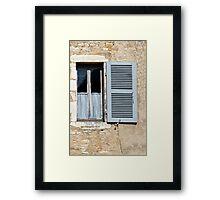 One Window, One Shutter Framed Print