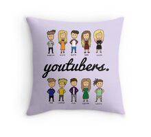 YOUTUBERS Throw Pillow