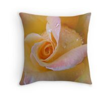 peach sundae Throw Pillow