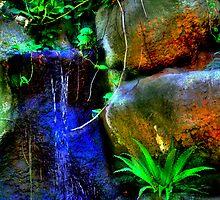 Sunken Gardens Waterfall One by sailorsedge