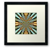'Metallic Involusion' Framed Print