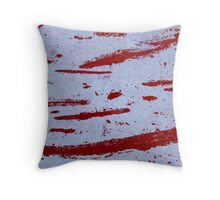 Red Slashes Throw Pillow