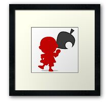 Smash Bros - Villager Framed Print