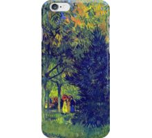 'Allee in the Park' by Vincent Van Gogh (Reproduction) iPhone Case/Skin
