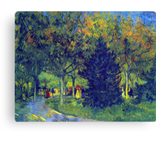 'Allee in the Park' by Vincent Van Gogh (Reproduction) Canvas Print