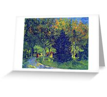 'Allee in the Park' by Vincent Van Gogh (Reproduction) Greeting Card