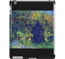 'Allee in the Park' by Vincent Van Gogh (Reproduction) iPad Case/Skin