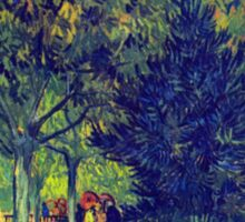 'Allee in the Park' by Vincent Van Gogh (Reproduction) Sticker