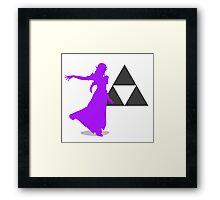 Smash Bros - Zelda Framed Print