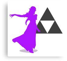 Smash Bros - Zelda Canvas Print