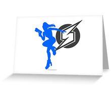 Smash Bros - Zero Suit Samus Greeting Card