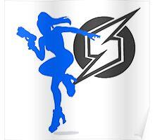 Smash Bros - Zero Suit Samus Poster