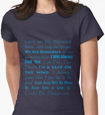 Multi Fandom Anthem 2 Womens Fitted T-Shirt