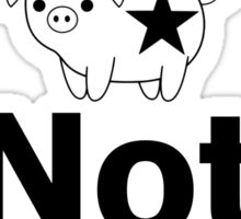 Jams Not Hams! Veggie Roller Derby Sticker