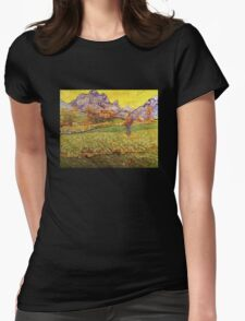 'A Meadow in the Mountains Le Mas de Saint Paul' by Vincent Van Gogh (Reproduction) T-Shirt