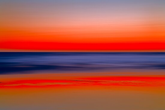 Twilight at Santa Monica Beach by Yves Rubin