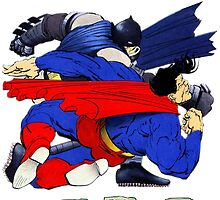 Batman punches Superman by ThePhysicist R