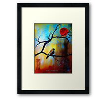 Only The Moon... Framed Print