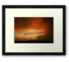 Summertime Sunset Framed Print