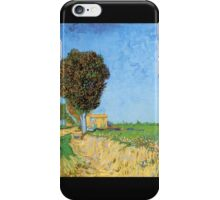 'A Lane in Arles' by Vincent Van Gogh (Reproduction) iPhone Case/Skin