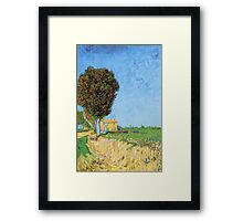 'A Lane in Arles' by Vincent Van Gogh (Reproduction) Framed Print