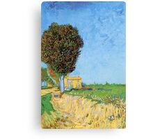 'A Lane in Arles' by Vincent Van Gogh (Reproduction) Canvas Print