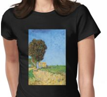'A Lane in Arles' by Vincent Van Gogh (Reproduction) Womens Fitted T-Shirt