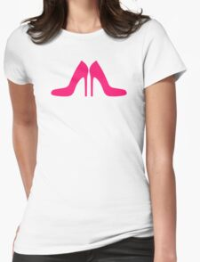Pink pumps shoes Womens Fitted T-Shirt