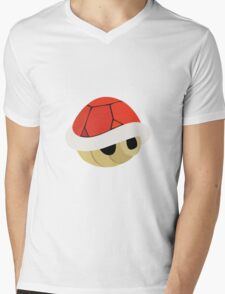 Red Shell Mens V-Neck T-Shirt