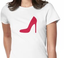 Red pumps Womens Fitted T-Shirt