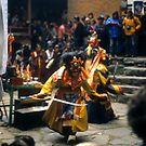Mani Rimdu dancer, dressed as Tibetan god for harvest festival by cascoly