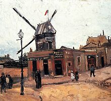 'Le Moulin de la Gallette' by Vincent Van Gogh (Reproduction) by Roz Abellera Art Gallery