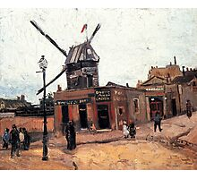 'Le Moulin de la Gallette' by Vincent Van Gogh (Reproduction) Photographic Print
