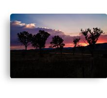 Canberra Sunset Canvas Print