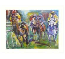 Racing colours Art Print