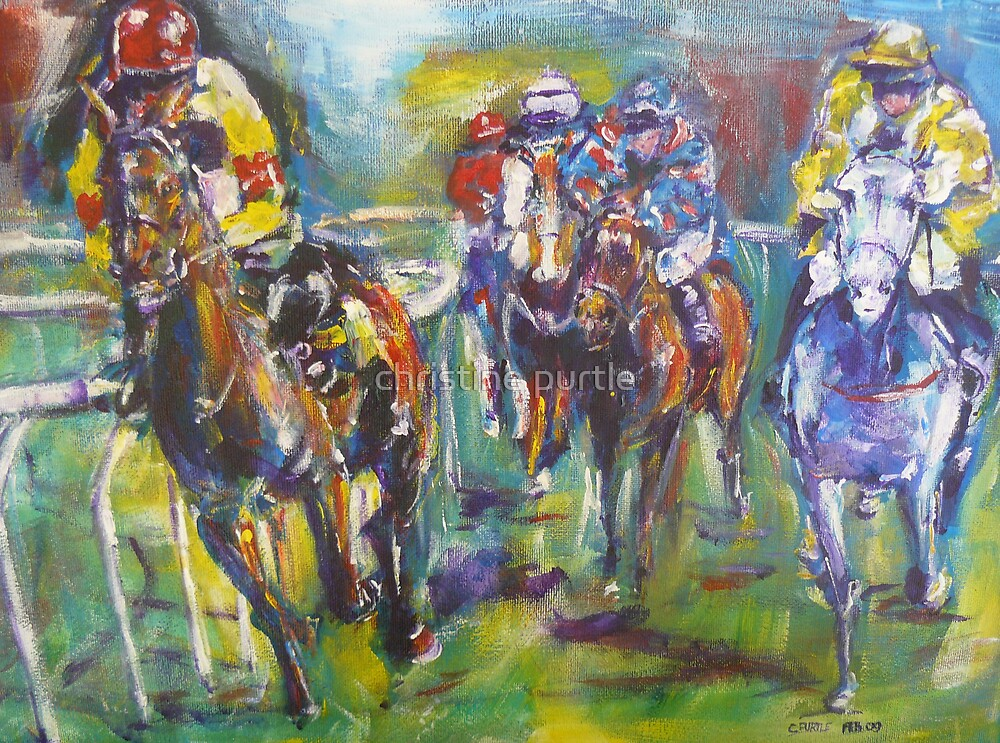 Racing colours by christine purtle