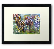 Racing colours Framed Print