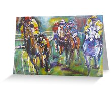 Racing colours Greeting Card