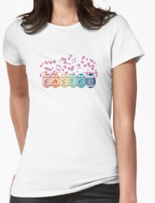 Colored Easter Eggs Womens Fitted T-Shirt
