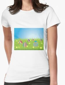 Colored Easter Eggs 2 Womens Fitted T-Shirt