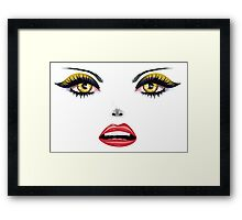 Face with Yellow Eyes 5 Framed Print