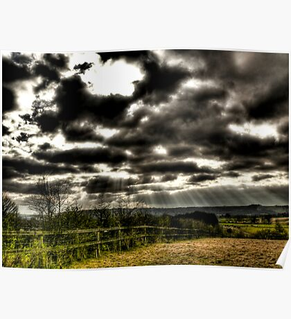 View Over the South Downs Poster
