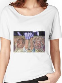 Jason on a Placard in my Lavendar Hand Women's Relaxed Fit T-Shirt