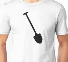 Black shovel icon spade Unisex T-Shirt