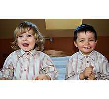 Boys Kuba and Kacper Photographic Print