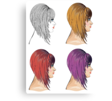 Hair Bob 2 Canvas Print