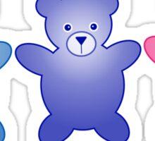 Cute Little Teddy Bears Sticker