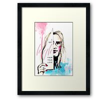 High from your love  Framed Print