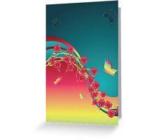 Roses and Butterfly Greeting Card