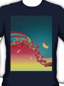 Roses and Butterfly T-Shirt